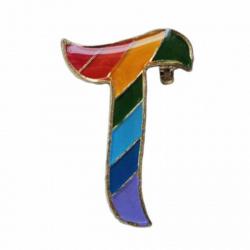 T Buchstabe Anstecker Pin