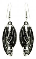 Fledermaus Totenkopf Ohrhänger