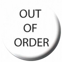Ansteckbutton Out Of Order | 1291