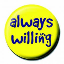 Ansteckbutton Always Willing   4516