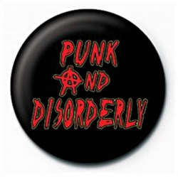 Ansteckbutton Punk And Disorderly | 6265