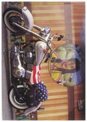 Harley Davidson Postkarte