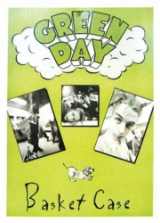 Green Day Basket Case Postkarte