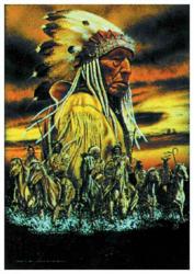 Poster Flag Indian Sitting Bull | 019