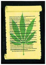 Poster Flag Cannabis on Perchment | 038