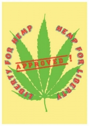 Posterfahne Hemp of Liberty | 102