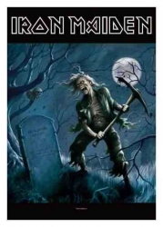 Posterfahne Iron Maiden Frontiers Head | 1034