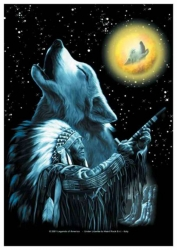 Posterfahne Moon Wolf | 369