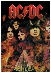 Posterfahne AC/DC Highway To Hell