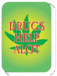 Aufkleber Drugs help alot | 4533