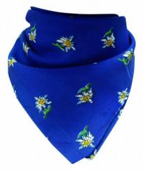 Bandana Kopftuch Edelweiß Blau
