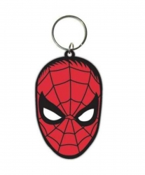 Rubber Keyring Spiderman Face