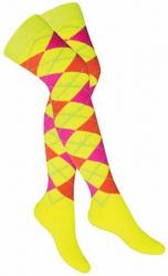 Overknee Socken Mehrfarbige Karos