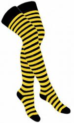 Overknee Socken Gelb Gestreift