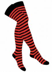 Overknee Socken Orange Gestreift