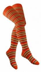 Overknee Socken Mehrfarbig Geringelt