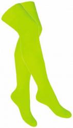 Overknee Socken Neon Gelb