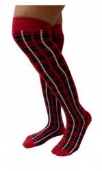 Overknee Socken Tartan Muster