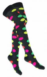 Overknee Socken Mehrfarbige Punkte