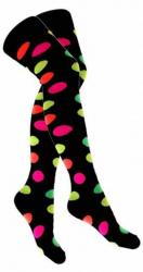 Overknee Socken Gepunktet Mehrfarbig