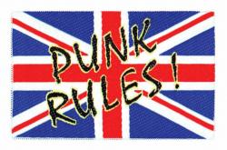 Union Jack Punk Rules Aufnäher   2435