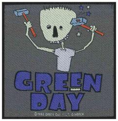 Green Day Hammer Face Aufnäher