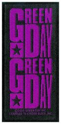 Green Day Purple Logo Aufnäher