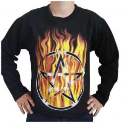 Sweatshirt Flammendes Pentagramm