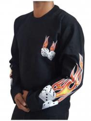 Sweatshirt Flammenwürfel
