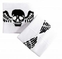 Schweißband Weiß Totenkopf