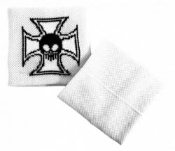 Schweißband Weiß Totenkopf Eisernes Kreuz