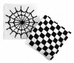 Schweißband Weiß Spinnennetz