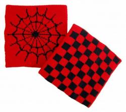 Schweißband Rot Spinnennetz