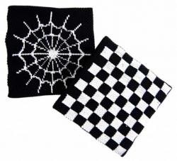 Schweißband Schwarz Spinnennetz