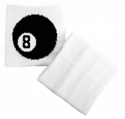 Schweißband Weiß 8 Kugel
