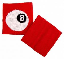 Schweißband Rot 8 Kugel