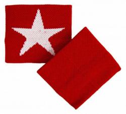 Rotes Schweißband Mit Weißem Stern