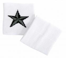 Pentagramm Schweißband Weiß