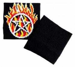 Pentagramm Schweißband Schwarz