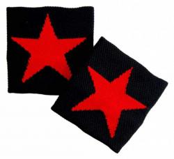 Schwarzes Schweißband Mit Rotem Stern