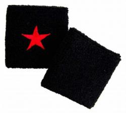 Schweißband Schwarz Mit Rotem Stern