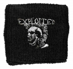 Schweißband The Exploited Mohican Skull